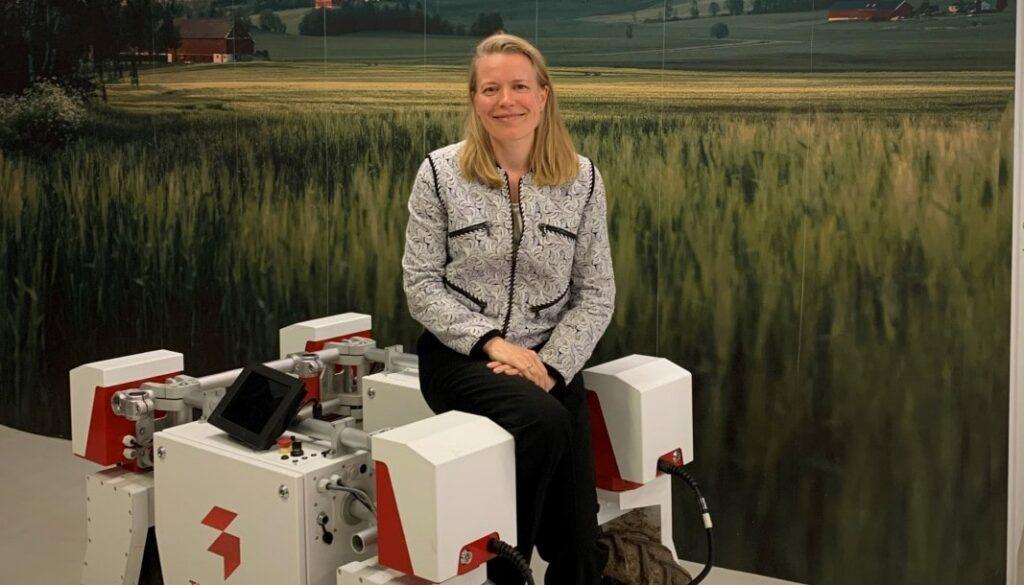 Anne Dingstad Vabø with Thorvald