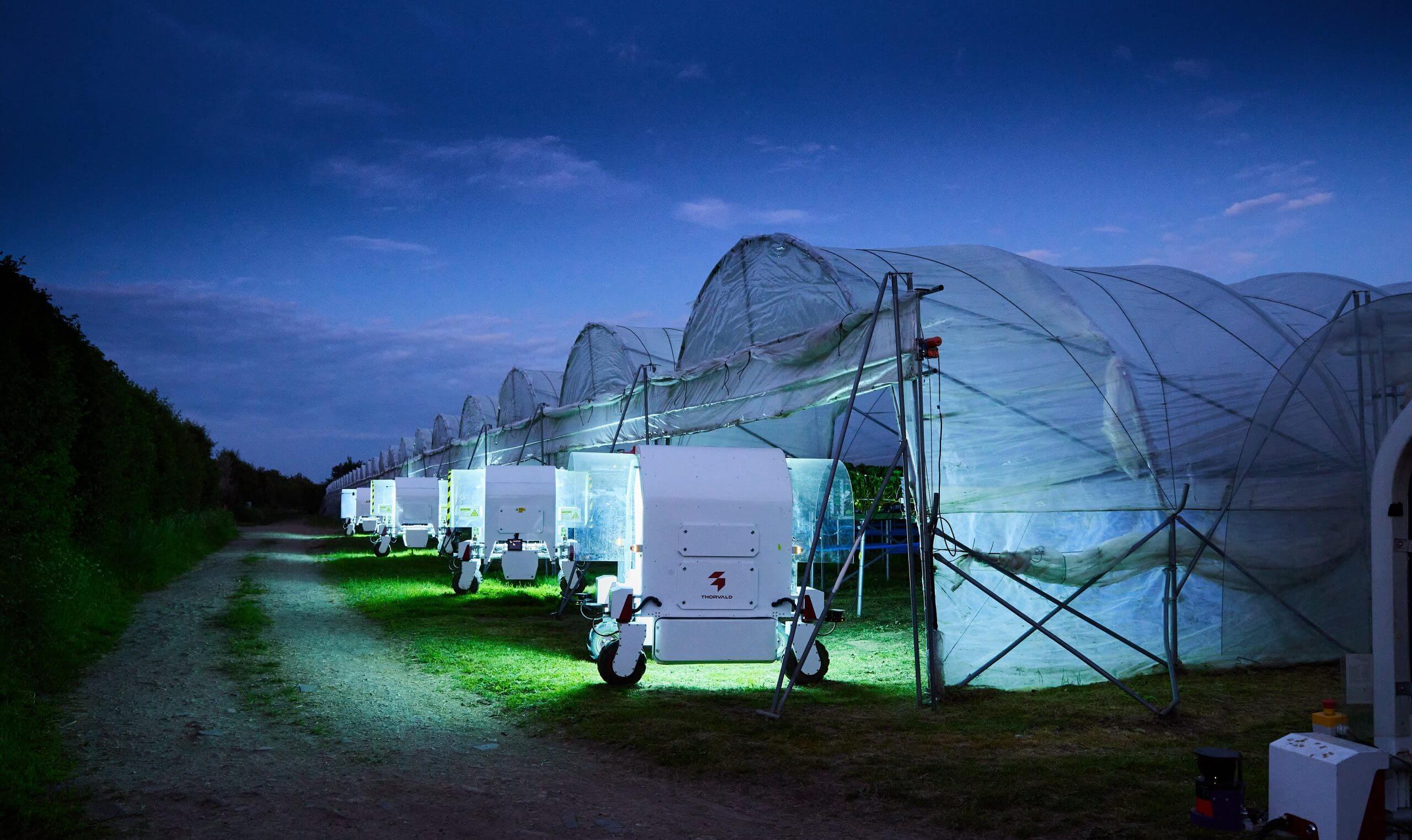 UV light treatment at night